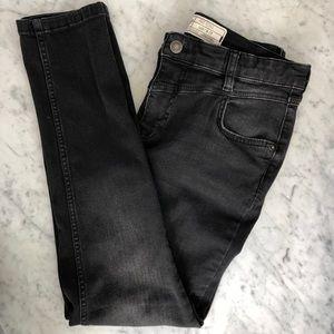 Free people black ankle skinny jeans